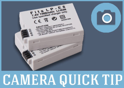 Get Extra Batteries For Your Camera….or else!!!