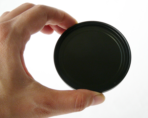 Variable Neutral Density filter, dark
