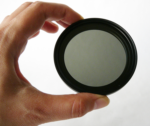 Variable Neutral Density filter, light
