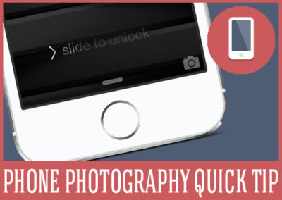 Open the iPhone camera FAST!