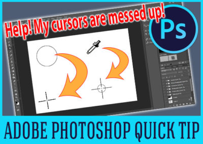 How To Fix Your Photoshop Cursor Problem When They All Change To Precise Cursors.