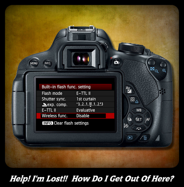 DSLR Camera Settings Menu